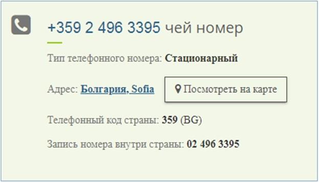 сервис проверки телефонного номера