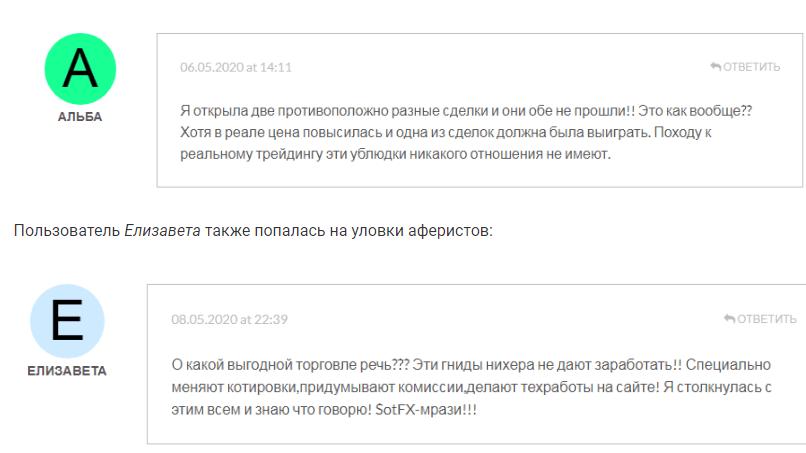 SotFX Отзывы