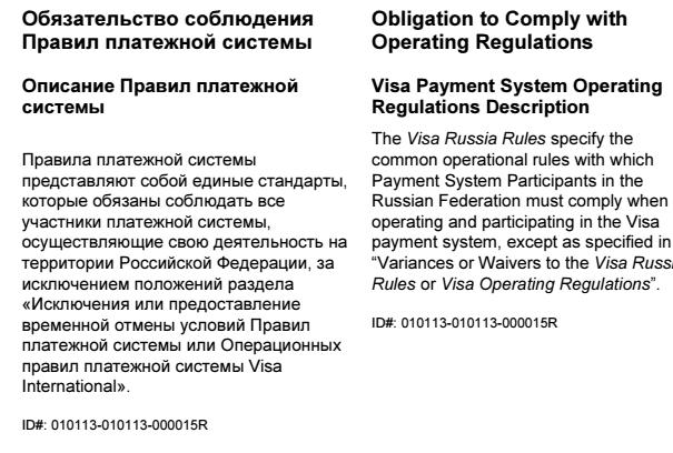 Chargeback visa сбербанк