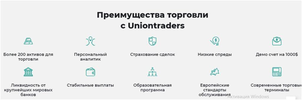 Торговые условия компании Uniontraders.
