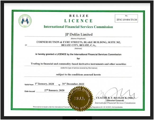В одном из модулей сайта представлена копия лицензии JPDolfin.