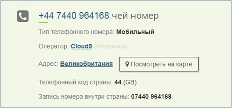 Сервис проверки номера телефона