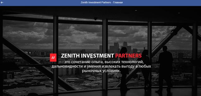 ZENITH INVESTMENT