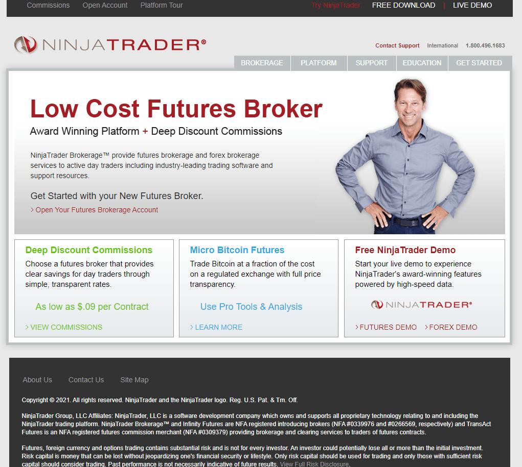 Ninjatrader brokerage