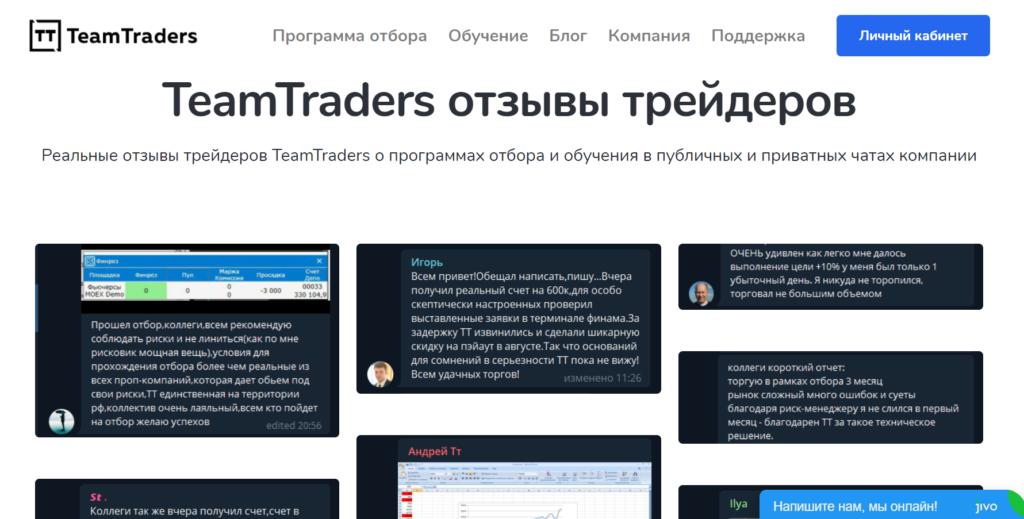 TeamTraders Отзывы