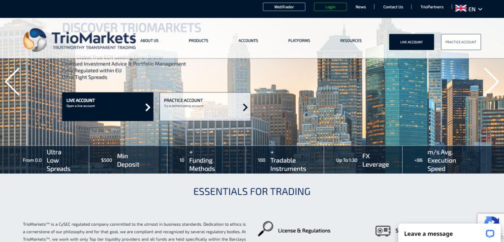 Triomarkets Официальный сайт